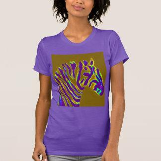 Camiseta Fulgor roxo da arte da zebra