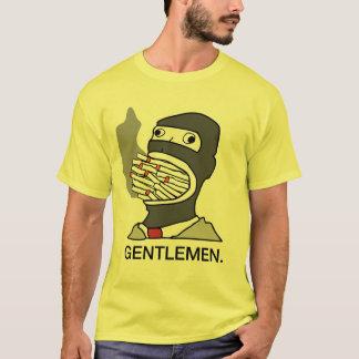 Camiseta fumo do espião dos cavalheiros