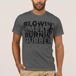 Camiseta Fumo do sopro, borracha da queimadura
