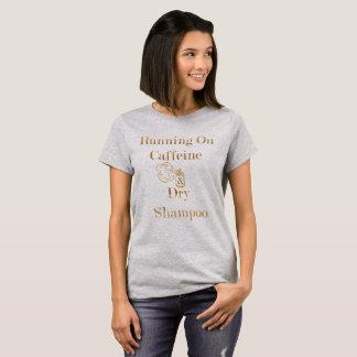 Camiseta Funcionamento na cafeína e no Tshirt seco do