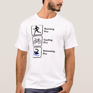 Camiseta Funcionando, dando um ciclo, Triathlon nadador