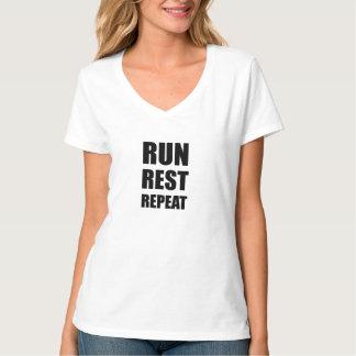 Camiseta Funcione a repetição do resto