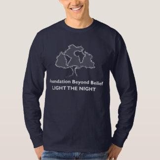 Camiseta Fundação além da luz da opinião a equipe da noite