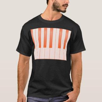 Camiseta Fundo chave do piano