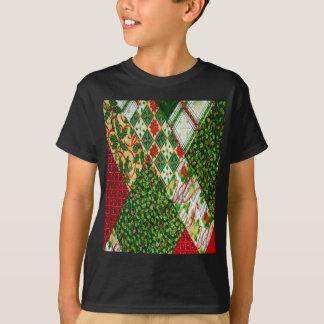 Camiseta Fundo da edredão do Natal