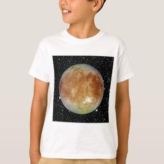 Camiseta Fundo da estrela do EUROPA da LUA de JUPITER do