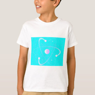Camiseta Fundo da estrutura da massa atômica