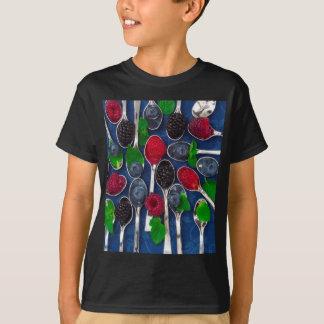 Camiseta fundo da fruta de baga