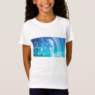 Camiseta Fundo da molécula como um conceito do abstrato da