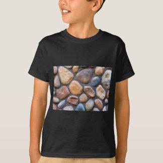 Camiseta Fundo de pedra da parede da rocha do rio
