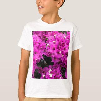 Camiseta Fundo fúcsia roxo do Bougainvillea