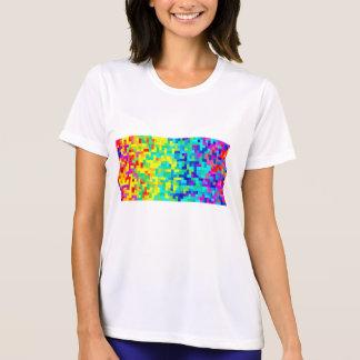 Camiseta Fundo sem emenda do teste padrão do pixel como um