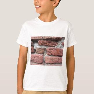 Camiseta Fundo velho da parede de tijolo
