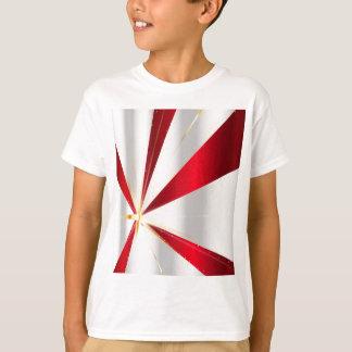 Camiseta Fundo vermelho e de prata