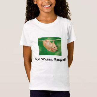 Camiseta Funny_Hamster, Hey! Queira ao lugar frequentado?
