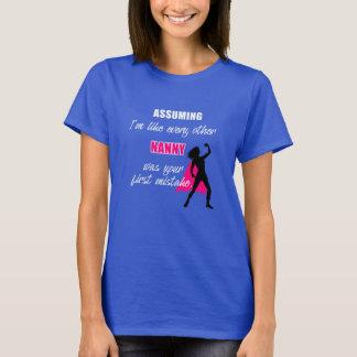 Camiseta Funny humor Nanny alpargata - babysitter