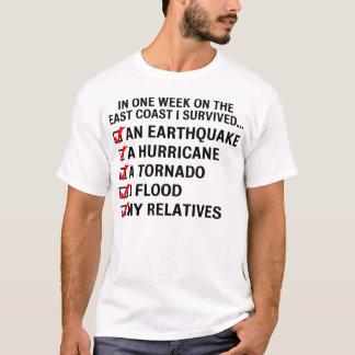 Camiseta Furacão Irene/t-shirt sobrevivência da costa leste