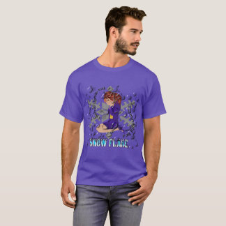 Camiseta Fusão do floco de neve