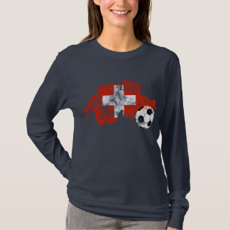 Camiseta Futebol afligido da suiça