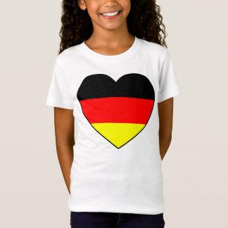Camiseta Futebol Alemanha bandeira de cardíaco A bom preço