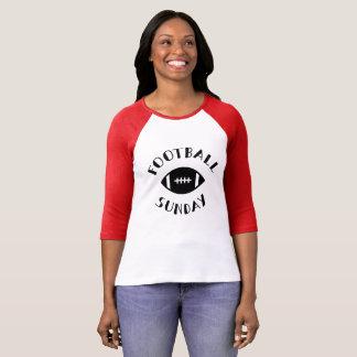 Camiseta Futebol domingo 3 /4 de TShirt do gráfico da luva