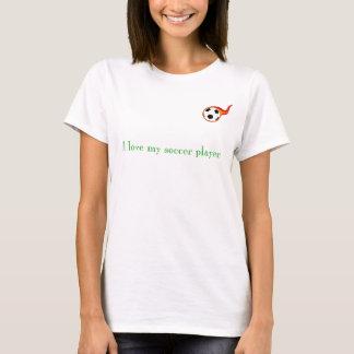 Camiseta futebol, eu amo meu jogador de futebol -
