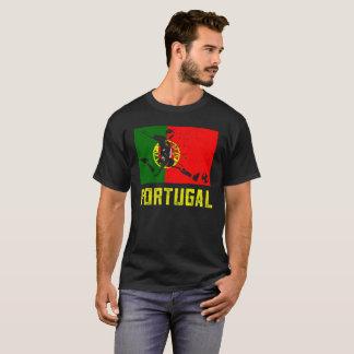 Camiseta Futebol português da bandeira