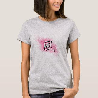 Camiseta Fuu na névoa cor-de-rosa