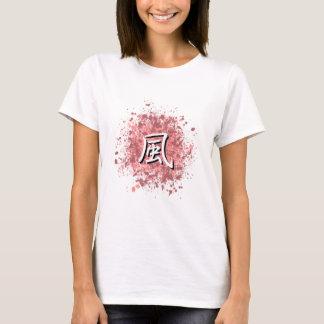 Camiseta Fuu no Spatter cor-de-rosa e malva da pintura