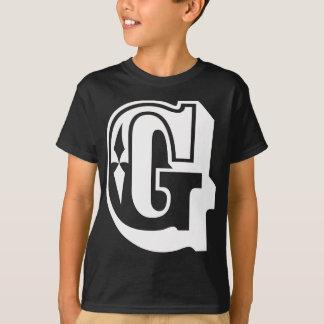 """Camiseta """"G"""" é para Gangsta - T da letra do alfabeto"""