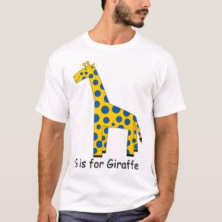 Camiseta G é para o girafa
