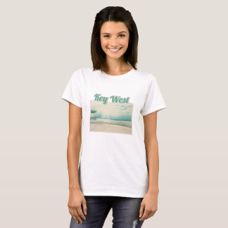 Camiseta Gaivotas e miradouro na praia Key West FL de Higgs