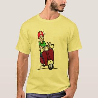 Camiseta Gajo do patinete, cavaleiro cómico,