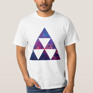 Camiseta Galáxia do hipster/triângulo do espaço