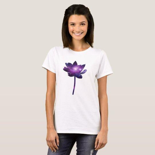 Camiseta Galaxy Lotus Flower - white