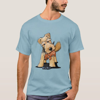 Camiseta Galês Terrier com esquilo