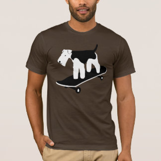 Camiseta Galês Terrier Skateboarding