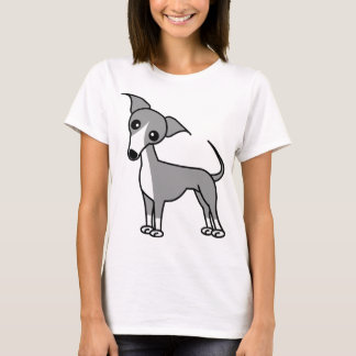 Camiseta Galgo italiano bonito - cinza