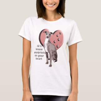 Camiseta Galgo italiano Pawprints