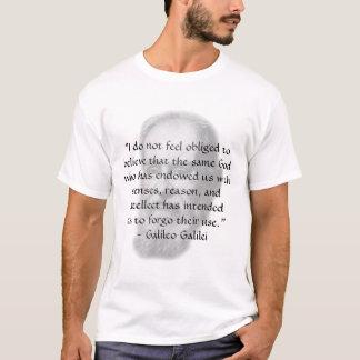 "Camiseta Galileo ""razão """