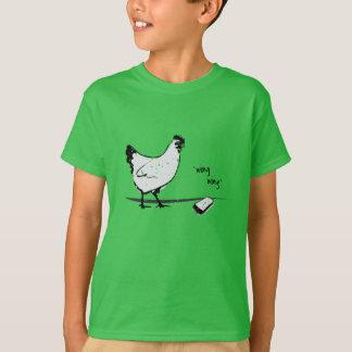Camiseta Galinha com telemóvel