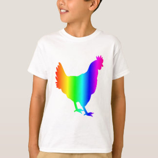 Camiseta Galinha do arco-íris