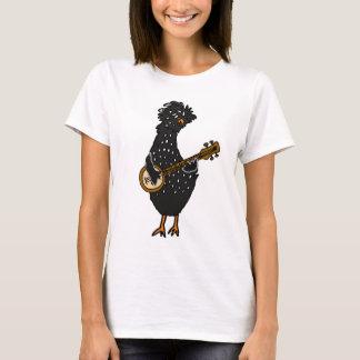 Camiseta Galinha polonesa engraçada que joga a arte do