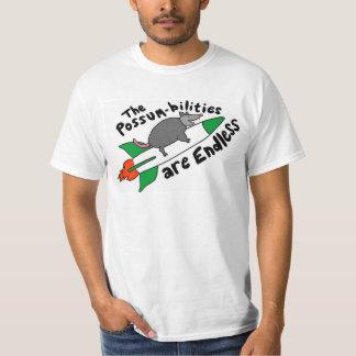 Camiseta Gambá em um t-shirt de Rocket