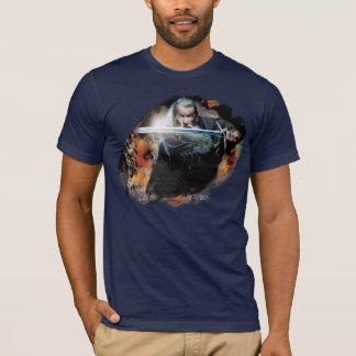 Camiseta Gandalf com a espada na batalha