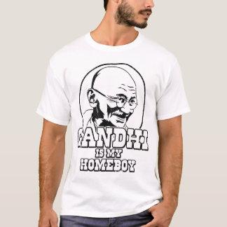 Camiseta Gandhi é meu ficar em casa