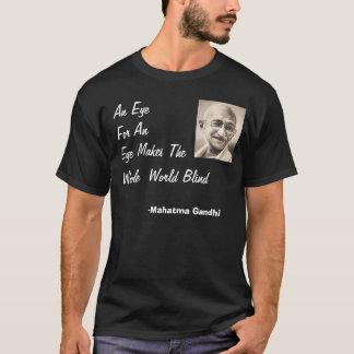 Camiseta Gandhi, olho para um olho…