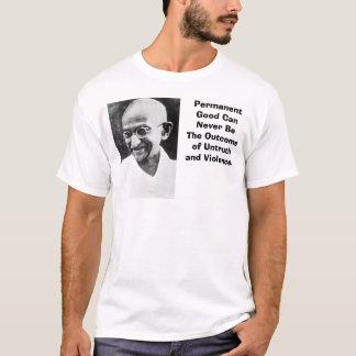 Camiseta Gandhi, PermanentGood CanNever seja o Outcomeof…