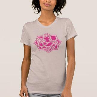 Camiseta Ganesh e lótus - senhoras