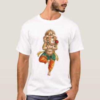 Camiseta Ganesha em uma pose da ioga de Vrksasana (árvore)